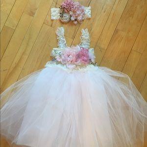 Other - Blush Woodland Flower Girl Dress Set size 2T/3T